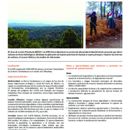 Área de Acción Prioritaria REDD+ en Chihuahua