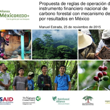 Propuesta de reglas de operación de un instrumento financiero nacional de carbono forestal con mecanismo de pago por resultados en México