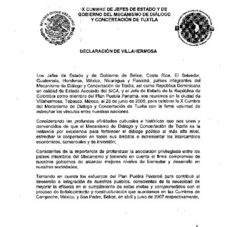 Declaración de Villahermosa