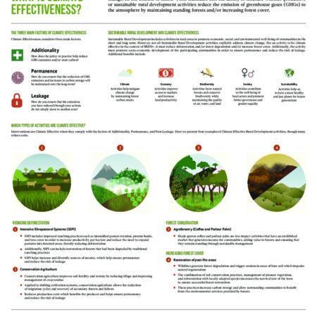 What is climate effectiveness?