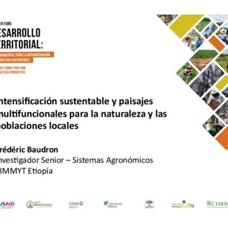 Intensificación sustentable y paisajes multifuncionales para la naturaleza y las poblaciones locales