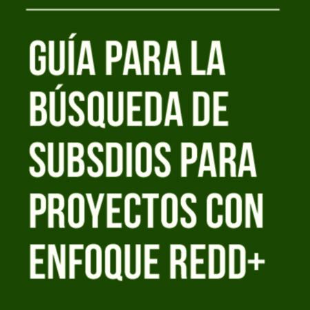 Guía para la búsqueda de subsidios para proyectos con enfoque REDD+
