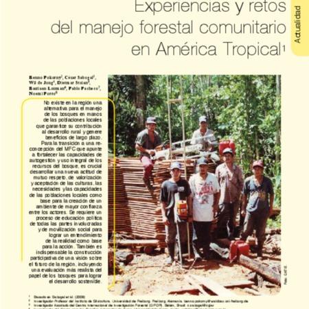 Experiencias y retos del manejo forestal comunitario en América Tropical