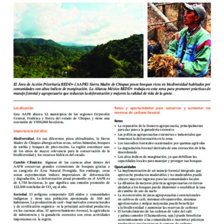 Área de Acción Prioritaria REDD+ en la Sierra Madre de Chiapas