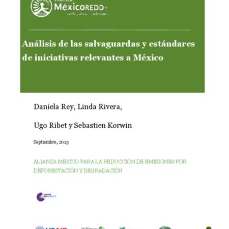 Análisis de las salvaguardas y estándares de iniciativas relevantes a México