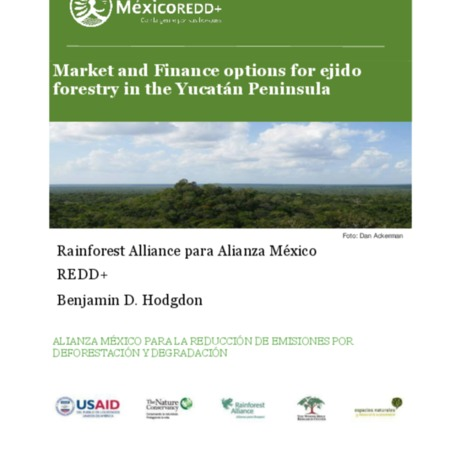 Market and Finance options for ejido forestry in the Yucatán Peninsula