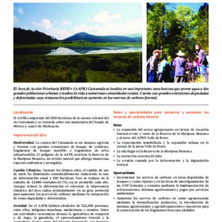 Área de Acción Prioritaria REDD+ en la Cuenca del Cutzamala