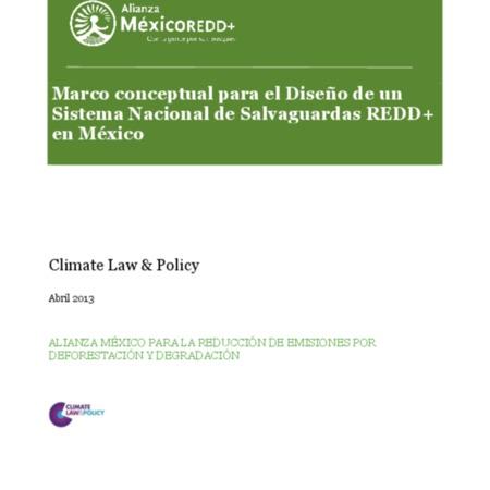 Marco conceptual para el diseño de un Sistema Nacional de Salvaguardas REDD+ en México
