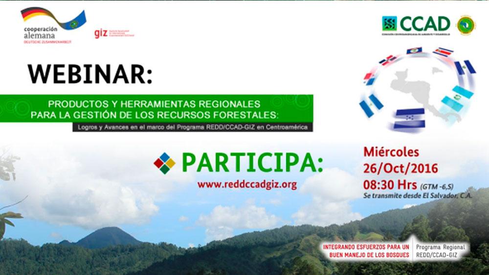 Webinar: Herramientas Regionales para la Gestión de los Recursos Forestales