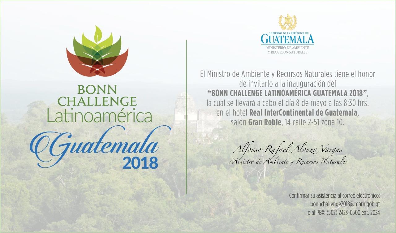 Bonn challenge latinoamérica - Guatemala 2018